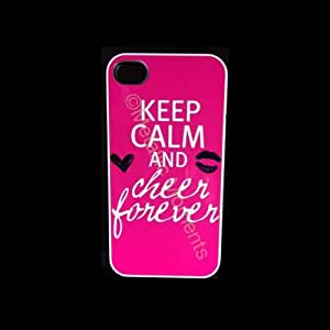 Keep calm and Cheer forever Iphone 4 Case - For Iphone 4 and Iphone 4s