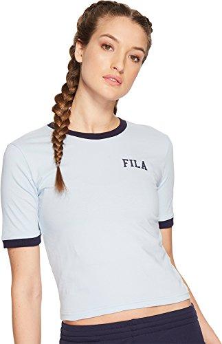 Sky Ringer T-shirt (Fila Women's Emmylou Ringer T-Shirt, Sky Way, Navy, XS)
