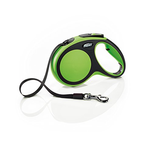 Flexi New Comfort Retractable Dog Leash (Tape), 16 ft, Medium, Green