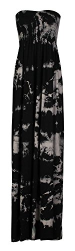 (Forever Womens Plus Size Leopard Stripe Tie Dye Floral Print Sheering Maxi Dress)