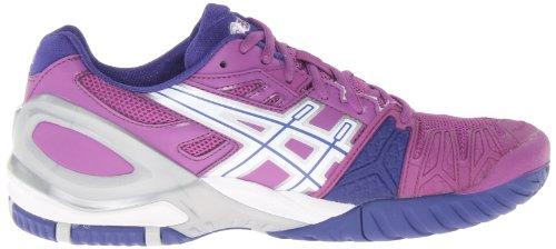 Asics Femme Gel-resolution 5 Tennis Chaussure Raisin / Blanc / Argent