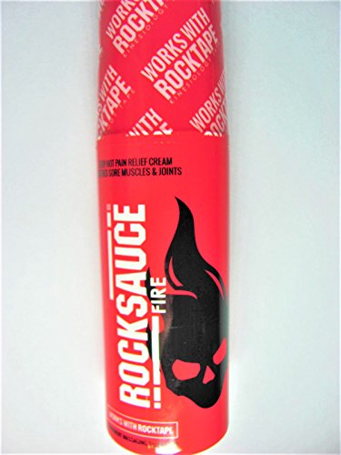 (Rock Sauce Rocktape Hot Pain Relief Gel Roll-On, 3 Ounce)
