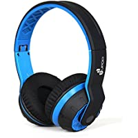 UPDO Rubato Series UD100-BT-BL Folderable Wireless Bluetooth Headphones Over Ear with Classic Adjustable Headsets - Blue Color (Blue)