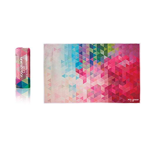 YOGA DESIGN LAB The Hand Towel Premium Quick Dry Colorful Eco Printed Fitness Towel | Designed in Bali | Non Slip Ideal for Bikram, Hot Yoga, Exercise, and Outdoor Sports | Soft, Cute! (Tribeca)