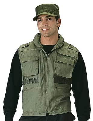 ULTRA FORCE OLIVE DRAB RANGER VEST, Size Small
