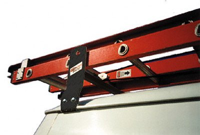 Cross Tread 83001 Steel 600 Gutter Mount Van Rack, 1 Bar, Black, 600 Lbs Capacity, For Select - Van Cross Tread