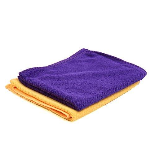 fa39ddc005b24 Amazon.com: eDealMax de 65 x 33 cm 250GSM serviette microfibre chiffon  propre pour la voiture de lavage Violet Jaune: Automotive