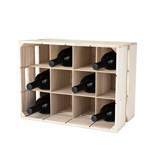 True 5283 Wooden Crate Wine Rack