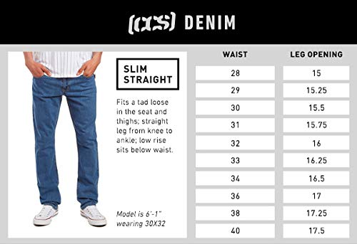 Amazon.com: CCS Bancos Slim Straight Fit jeans para hombre ...