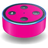 MightySkins Skin For Amazon Echo Dot (2nd Gen) - Solid Hot Pink | Protective, Durable, and Unique Vinyl Decal wrap cover | Easy To Apply, Remove, and Change Styles | Made in the USA