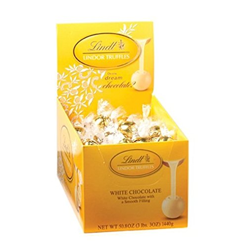 Lindt Lindor Chocolate Truffle White Chocolate, 120-Count Truffles
