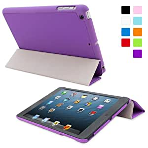 Snugg iPad Mini 1 / 2 / 3 Ultra Thin Smart Case in Purple - Flip Stand Cover with Auto Wake and Sleep for Apple iPad Mini & iPad Mini 2 Retina & iPad Mini 3