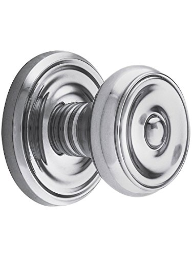 Classic Polished Chrome Rosette (Classic Rosette Set With Waverly Knobs Passage In Polished Chrome. Classic Door Knobs.)