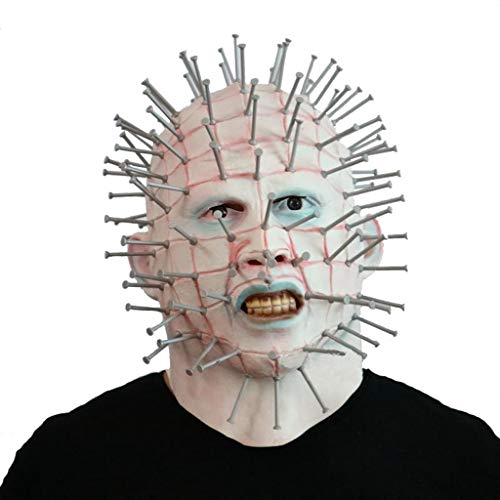 Pinhead Halloween Mask (QMMD Halloween Masks Scary - Men's Monster Masks - Horror Latex mask - Pinhead Mask - for Halloween Costume)