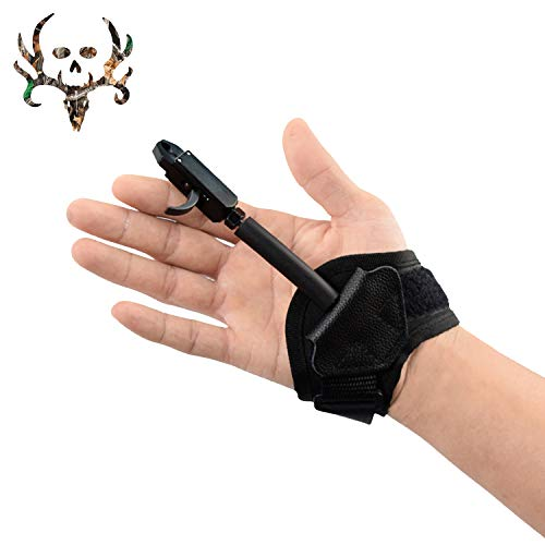 XGeek Adult Caliper Release Aid for Compound Bow and Recurve Bow,Trigger Wrist Strap Release for Hunting and Target Practice,Archery Accessories (Black) (Best Arrow Release For Hunting)