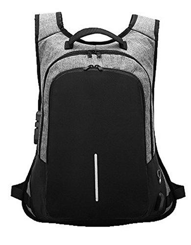 Mode dos Nylon de AgooLar Sacs Daypack Daypacks à GMBBB181014 randonnée Gris Femme Zippers pqnEU