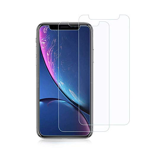 iPhone XR Screen Protector, [2pack] Ultra Clear Tempered Glass Screen Protector Compatible Apple iPhone XR (6.1inch)- 9H Hardness,3D-Touch