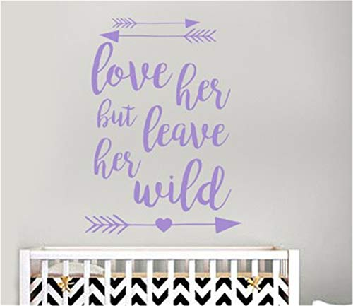 Winnie Pooh The Monitor Baby (Ployet Decals Wall Stickers Sayings Lettering Room Home Wall Decor Mural Art Love Her But Leave Her Wild for Girls Room Nursery Kids Room)
