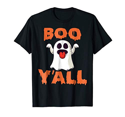 Spooky BOO y'all ghost halloween tshirt for men or women -