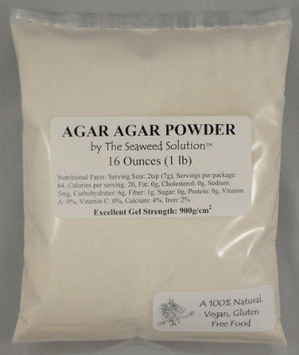 Агар-агар порошок 16 унций 1 фунт - Отлично Гель Сила 900г / см2