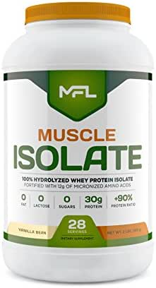 Muscle Food Labs Muscle Isolate, 2 pounds (Vanilla Bean)