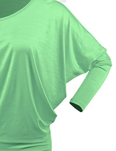 Lock and Love WT826 Womens Batwing Long Sleeve Top M Mint by Lock and Love (Image #3)