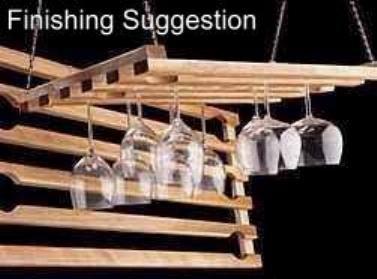hanging ceiling wine rack - 9
