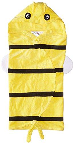 Kidorable Kid's Bee Wing Towel, Yellow, Medium