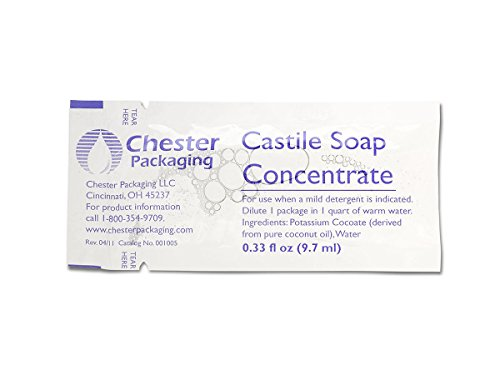 Medline MDS001005Z Soap, Castile, 1/3 oz. (Pack of 100) (Soap Castile Industries)