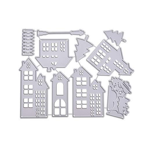SparkLia Christmas Series Die Cuts Stencils Metal Template Mould for DIY Scrapbooking and Embossing Paper Craft Scrapbook Supplies Card Making (Christmas House)