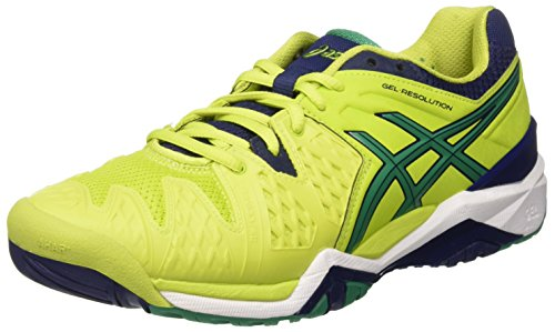 Chaussures Blue 0588 Multicolore pine indigo resolution Asics lime Gel Tennis De 6 Homme ZSqg1