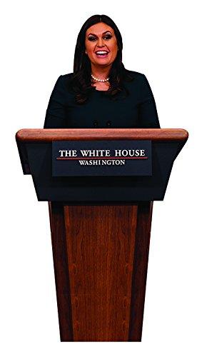 Aahs Engraving Press Secretary Sarah Huckabee Sanders at The Podium Cardboard Stand Up, 6 feet