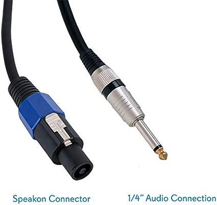 3FT speakon Speaker Pro Audio 4pin to black dual banana 18AWG cable D