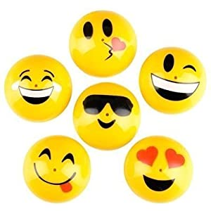 "Rhode Island Novelty 1.75"" Emoji Face Smile Emoticon Poppers 1 Dozen, 12 Pieces"