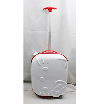 d8282ffdf59 White and Red Hardshell Hello Kitty Suitcase - Hello Kitty Luggage   Amazon.co.uk  Toys   Games