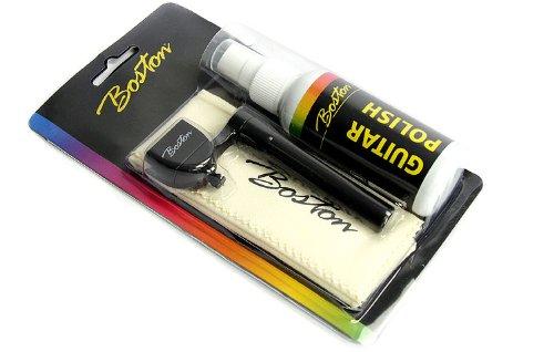 Guitar Polish: 60ml pump spray Guitar Cleaner + Cleaning Cloth + String Winder Boston