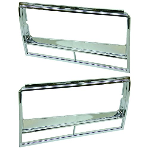 Headlight Door for Chevrolet El Camino 82-87 / Malibu 82-83 RH and LH Included Chrome