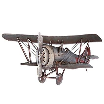 Amazon.com: Vintage Airplane Metal Wall Art Vintage Galvanized Metal ...