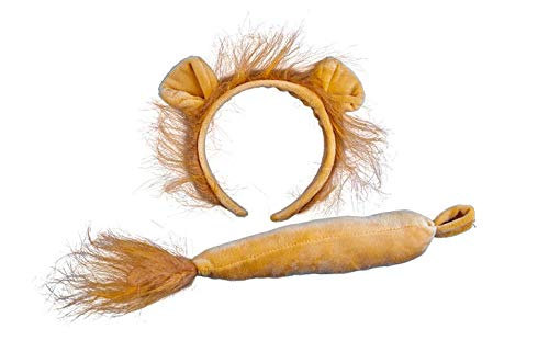 Lion Nose - Wicked Adults Lion Ears & Tail Animal Fancy Dress Accessory Set