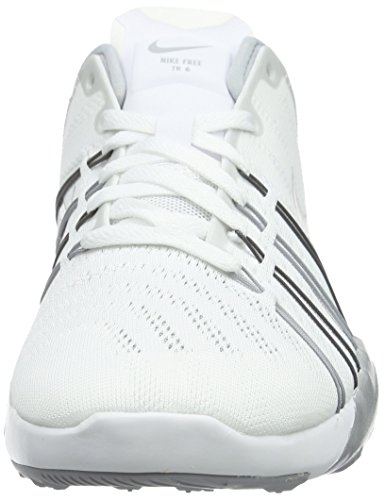 Metallic Silver 6 Femme Noir Grey Free Chaussures White Blanc de Wolf Fitness Trainer Nike fBvpW