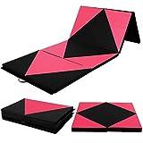 4'x10'x2'' Gymnastics Mat Folding Panel Thick Gym Fitness Exercise Pink/Black New