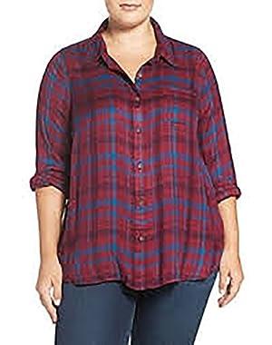 Women's Plus-Size Bungalow Plaid Shirt