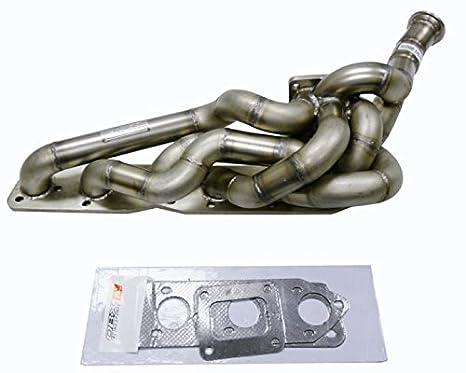OBX rendimiento T4 Turbo colector de escape Cabecera 99 - 06 M3 3.2L I6 E46: Amazon.es: Coche y moto