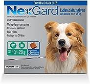 NexGard Antipulgas e Carrapatos para Cães de 10,1 a 25kg 3 tabletes