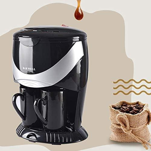 Cafetera Dkings con control de resistencia y agua caliente en llamada, máquina de café, mini máquina de café de doble taza eléctrica, pequeña máquina de café automática con goteo de vapor, color