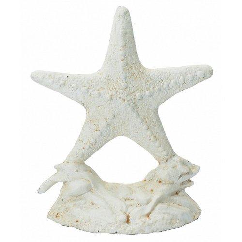 Whitewash Cast Iron Starfish Doorstop ()