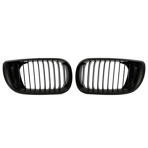 - uxcell Matte Black Front Hood Kidney Grille Grill Fit For 02-05 BMW E46 4D Sedan 318i 320i 323i 328i