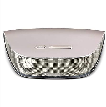 Yughb Altavoz Bluetooth inalámbrico, Llamada Manos Libres, Bluetooth 4.0, Estuche metálico, Multifunción portátil, Grado de aviación, Aleación de Aluminio y magnesio Baja frecuencia, Sonido Bluetooth: Amazon.es: Hogar
