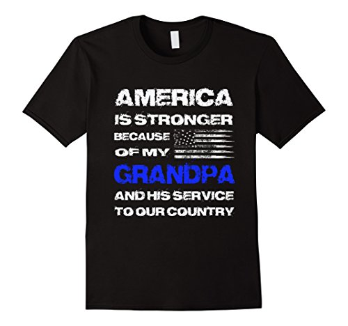Men's America is Stronger Because of My Grandpa veteran tee Medium - Duty Tee Active