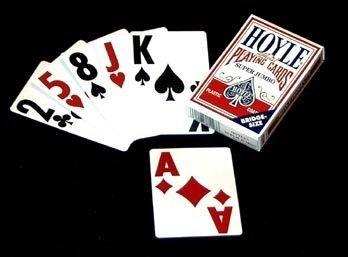(1) Hoyle Super Jumbo Bridge-Size Deck of Playing Cards (Single (Large Print Playing Cards)